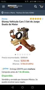 Amazon:  Set de juego cars