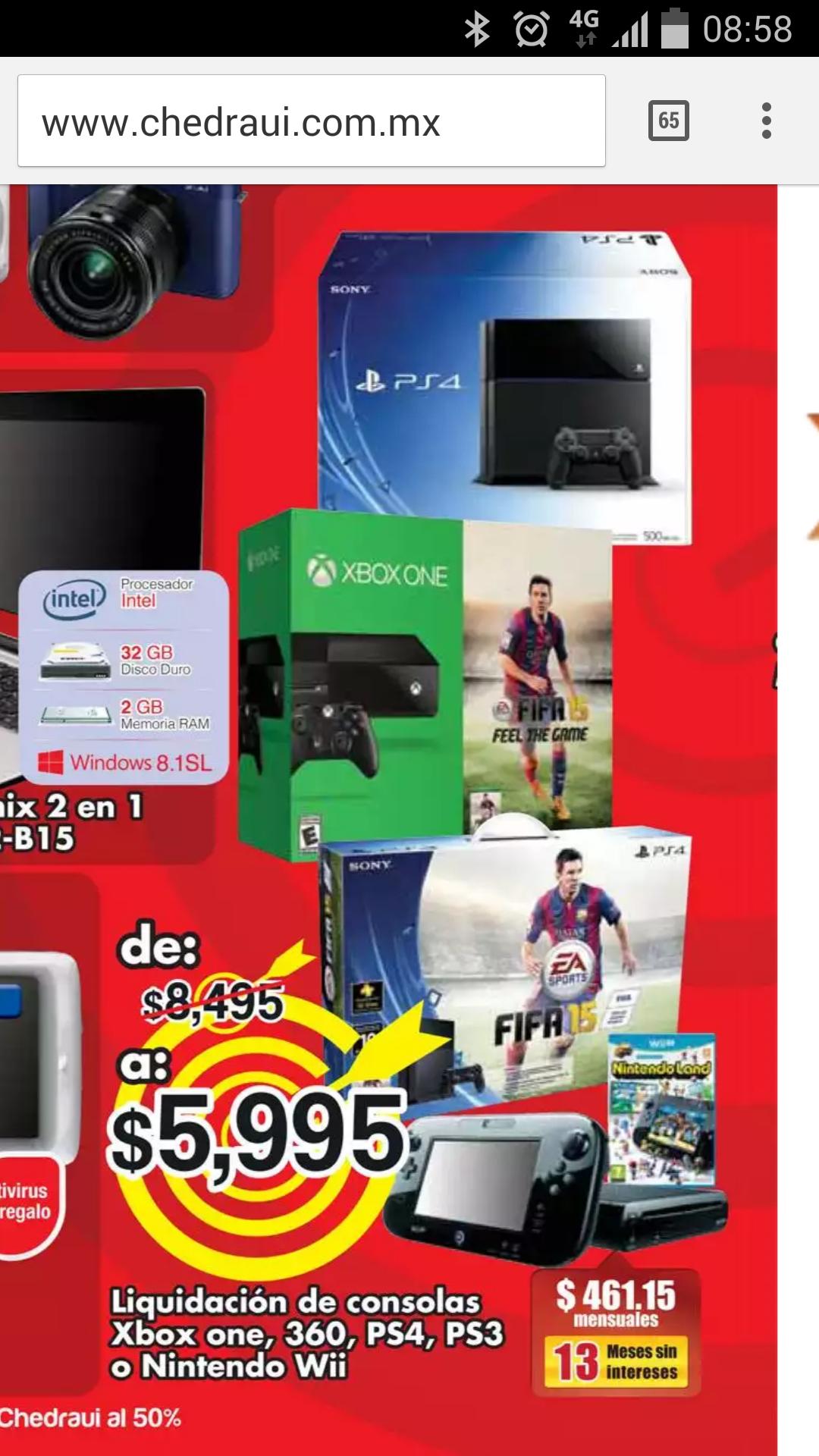 """Chedraui santa fe: """"liquidacion"""" PS4 $5,999"""