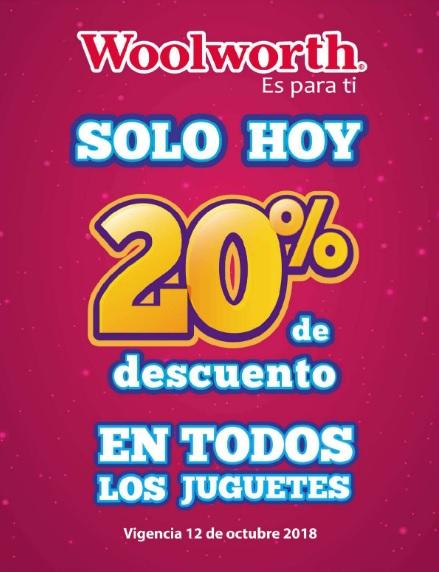 Woolworth: 20% de descuento en todos los juguetes