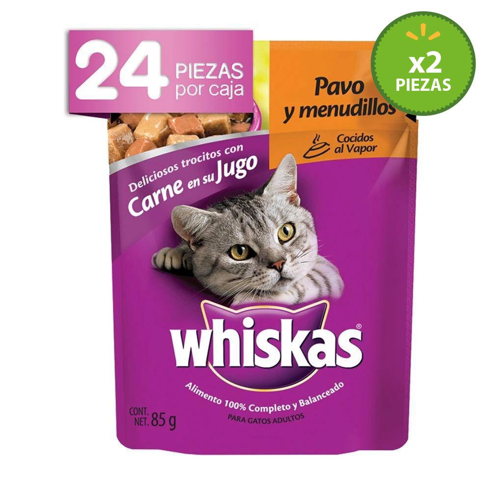 Walmart online 48 sobres para gato Whiskas