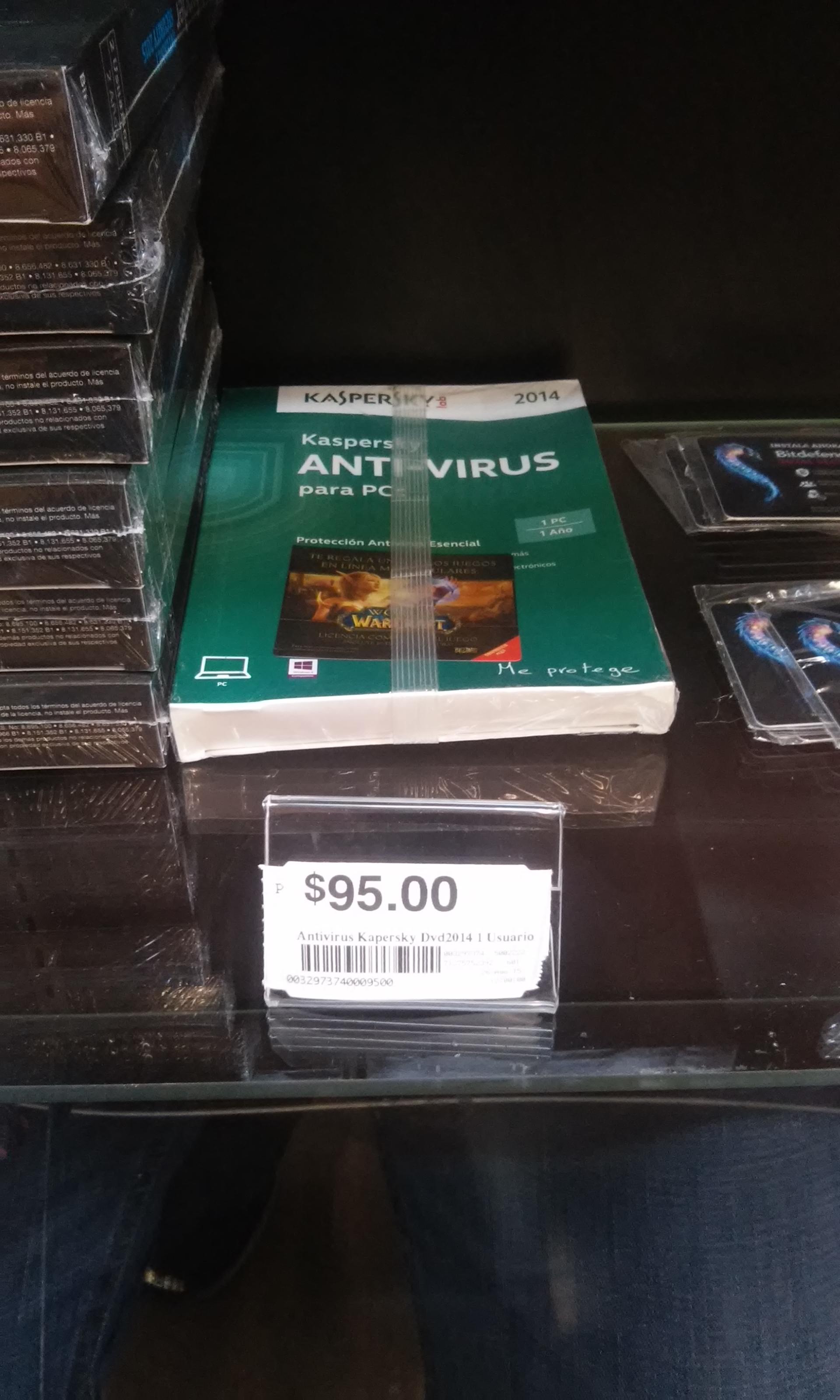 Chedraui: 1 año antivirus Kaspersky + Licencia de juego World Warcraft = $95