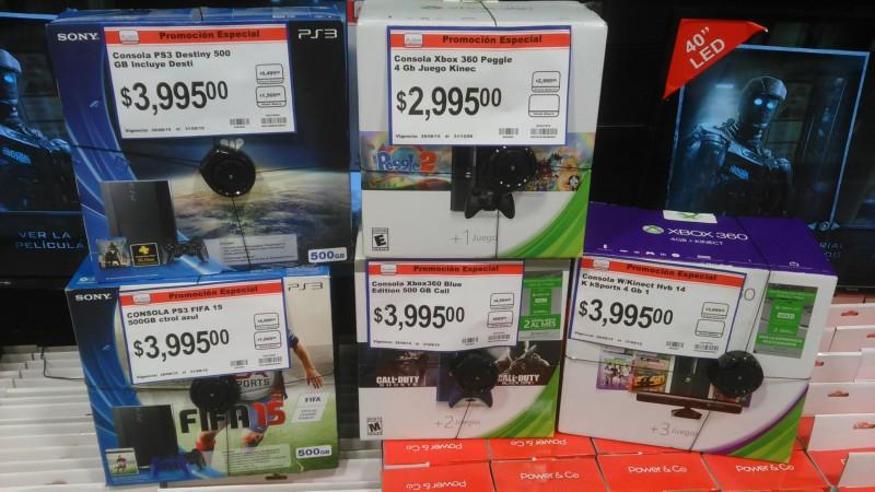CHEDRAUI (Toreo): XBOX360 Y PS3 con descuento varios modelos