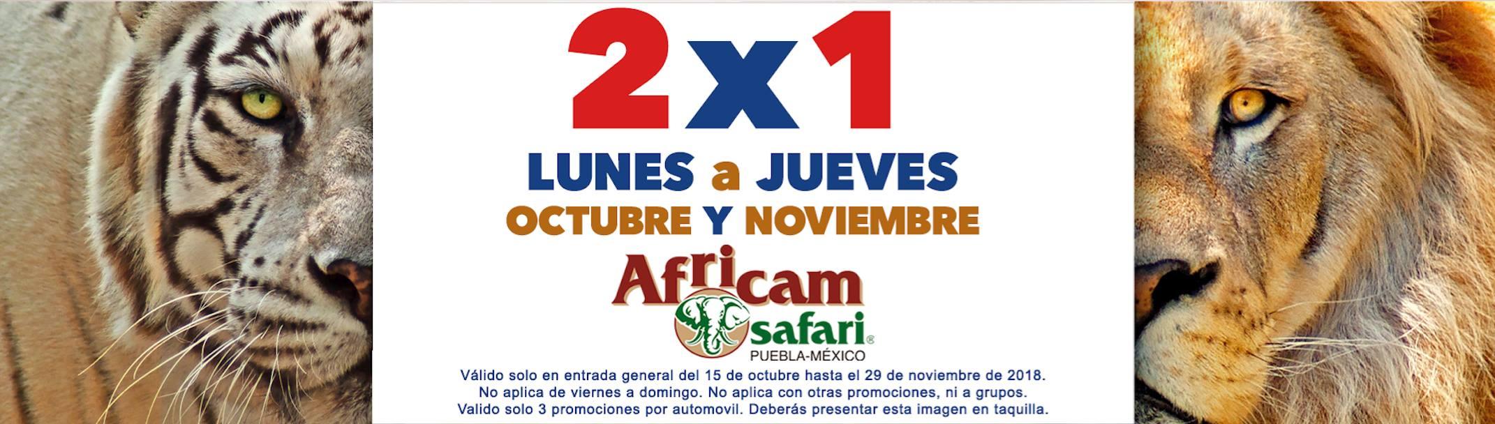 Africam Safari: 2x1 de lunes a jueves en octubre y noviembre