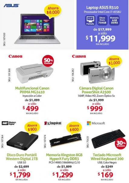PCEL: multifuncional Canon $499, cámara Canon 16MP $999 y más
