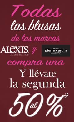 Suburbia: Blusas de la marca Alexis y Pierre Cardin al 2 x 1 y 1/2