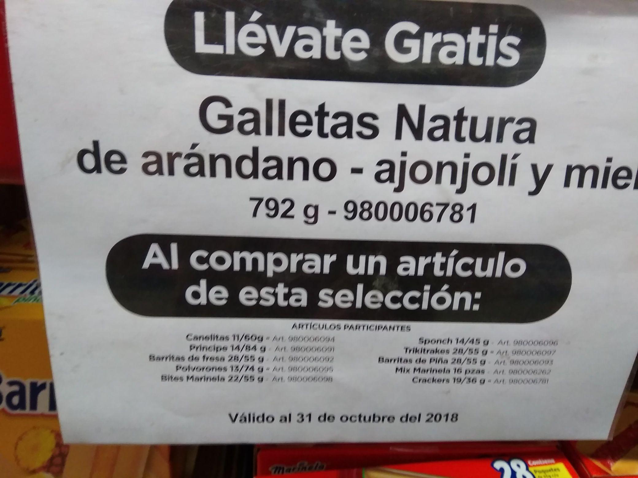 SAM'S ENSENADA: GALLETAS NATURA GRATIS EN LA COMPRA DE UN ARTÍCULO SELECCIÓN