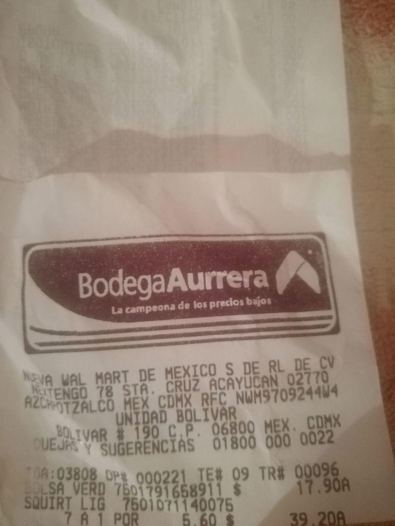Bodega Aurrera: Squirt light 2 litros