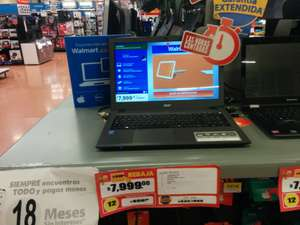 Walmart: Laptop Acer 8GB de RAM Intel Core i5