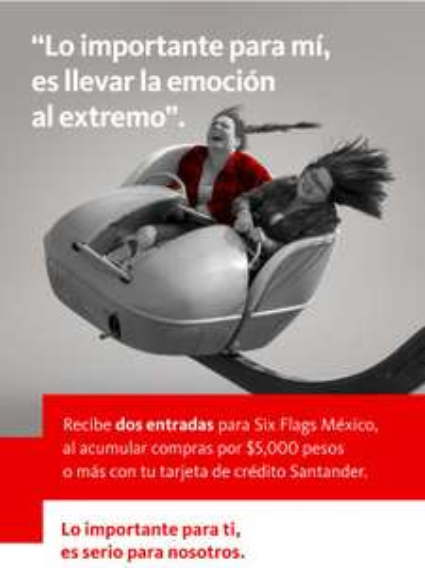 Santander: 2 entradas gratis para Six Flags