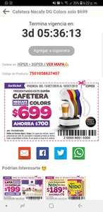 Soriana: Cafetera Dolce Gusto Colors