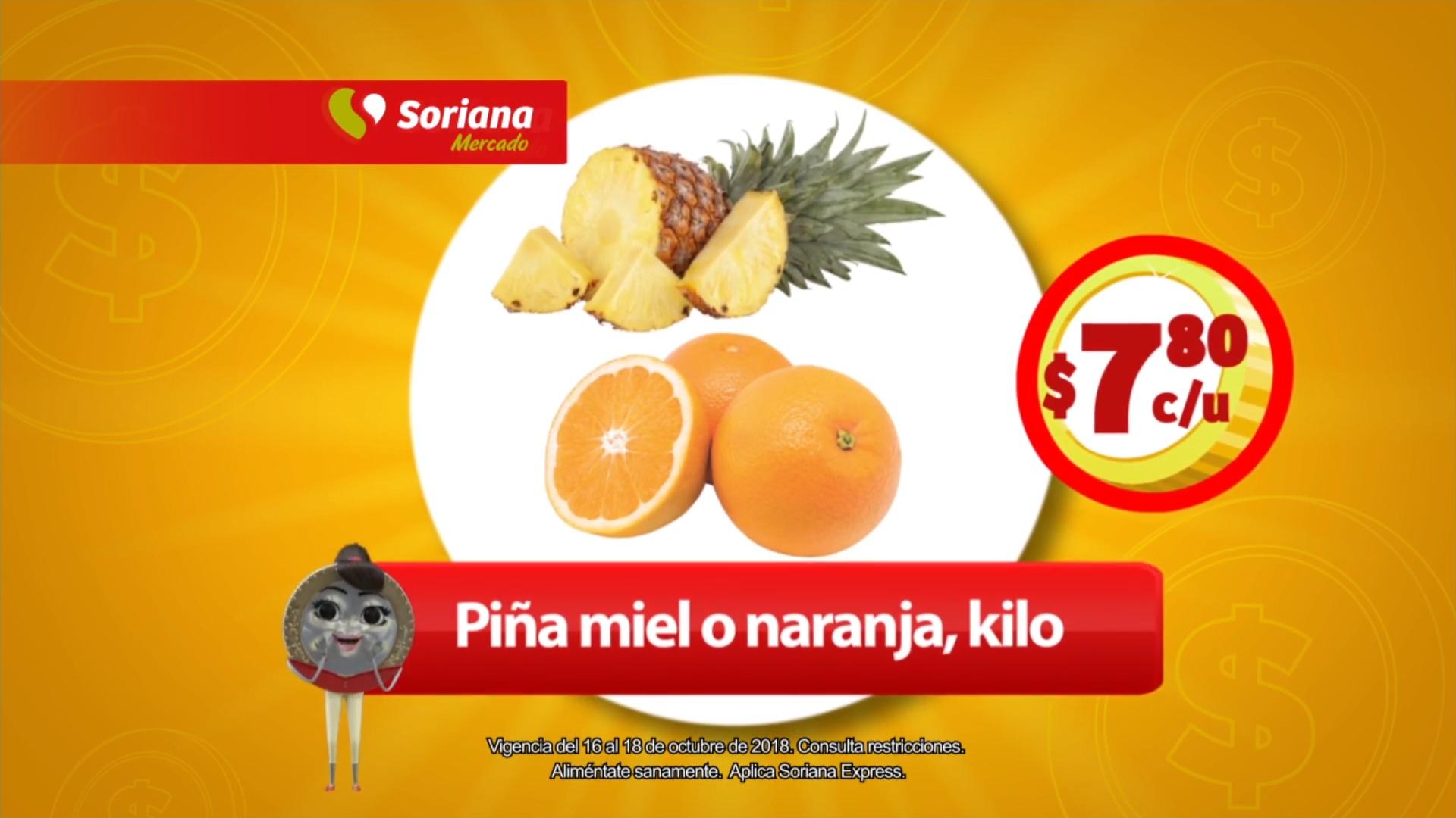 Soriana Mercado y Express: Martes, Miércoles y Jueves de Frutas y Verduras