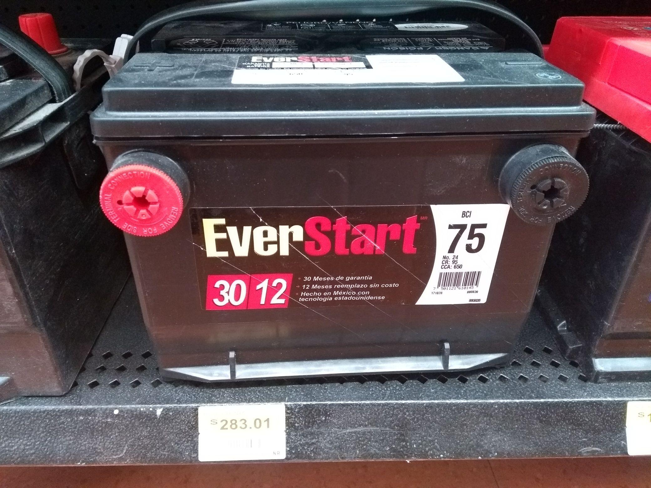 Walmart batería de autos