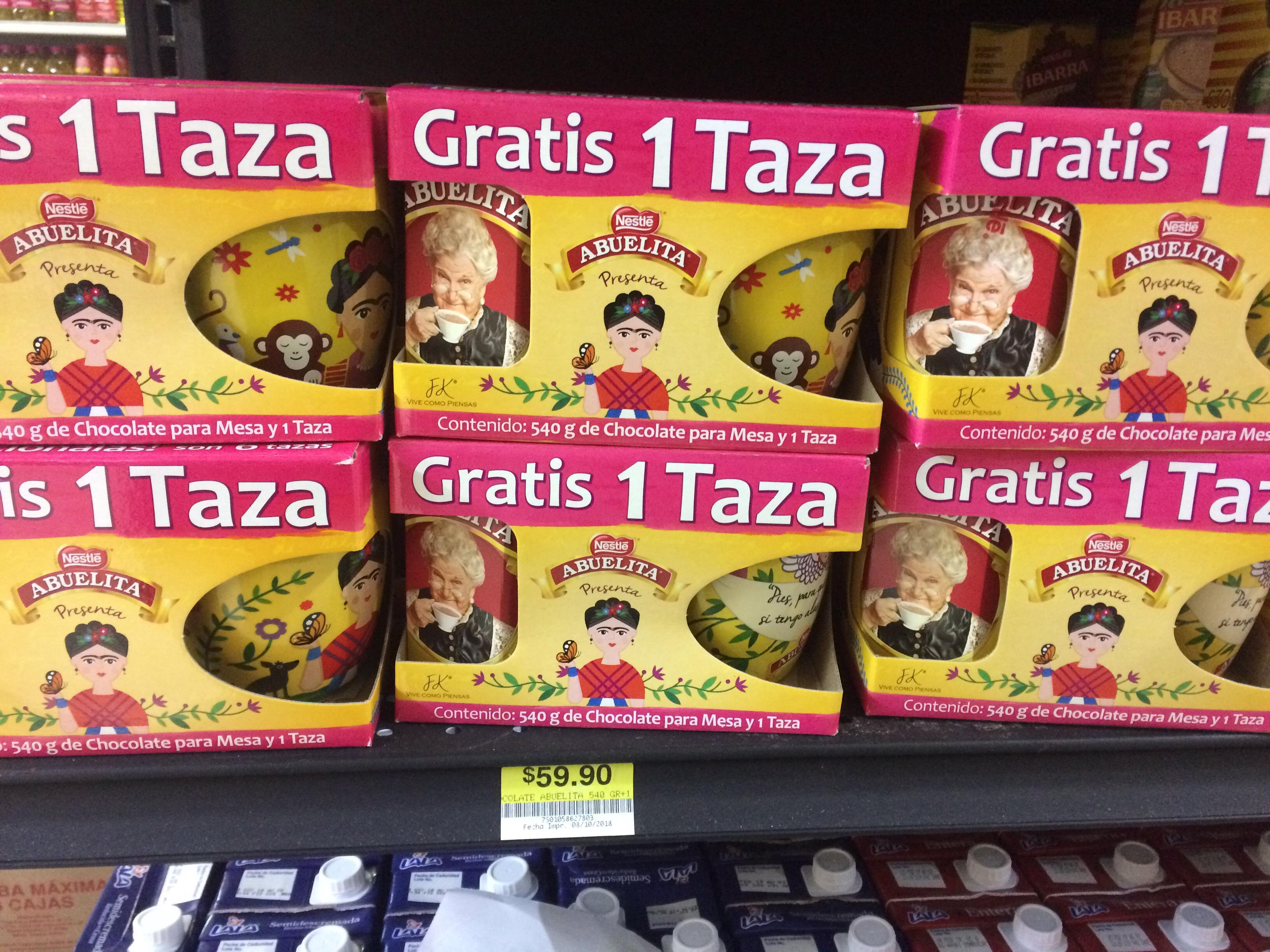 Chocolate abuelita: taza gratis
