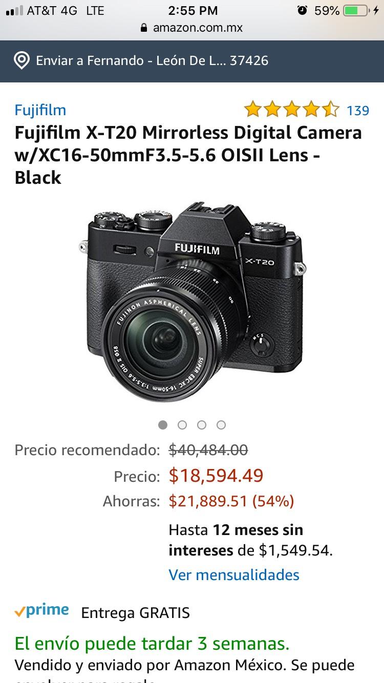 Amazon: Fujifilm XT20