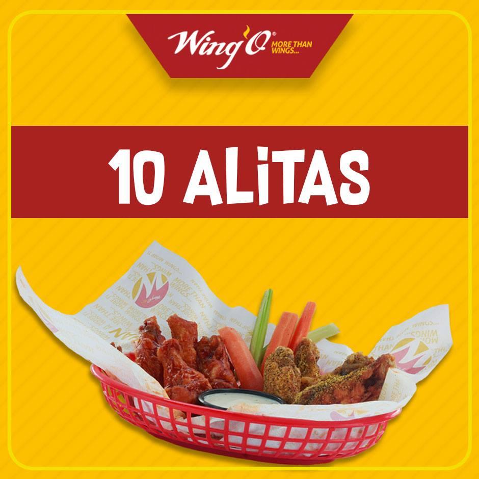 Wing'O Puebla Plaza Bios: 10 alitas o 1 Hamburguesa gratis consumiendo al menos 1 bebida