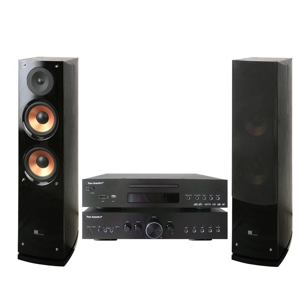 WalMart: Amplificador y bocinas Pure Acoustics Hi-Fi sistema estéreo