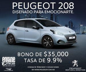 Peugeot: bono de hasta $35,000 y tasa preferencial de 9.9% en Peugeot 208