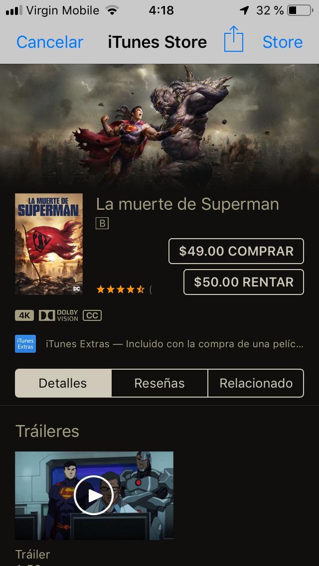 iTunes: La muerte de Superman por Sam Liu & Jake Castorena