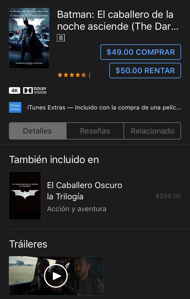ITunes: Batman: El caballero de la noche asciende (The Dark Knight Rises) por Christopher Nolan
