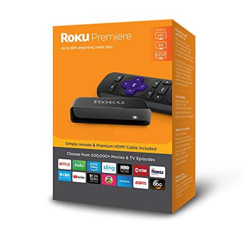 Amazon: Roku Premiere | 4K/HDR/HD Streaming Player con control remoto y cable HDMI (Modelo 2018)