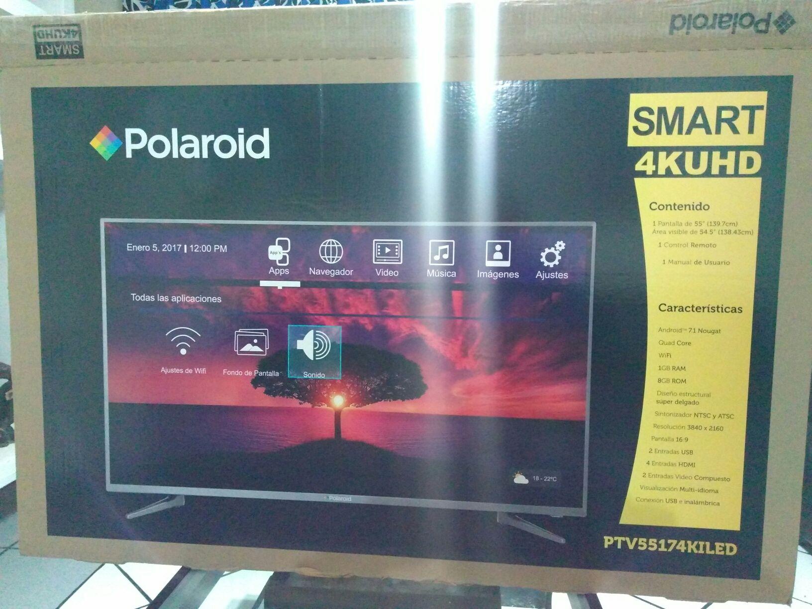 "Bodega Aurrera: Pantalla Polaroid 55"" Smart tv 4k uhd"