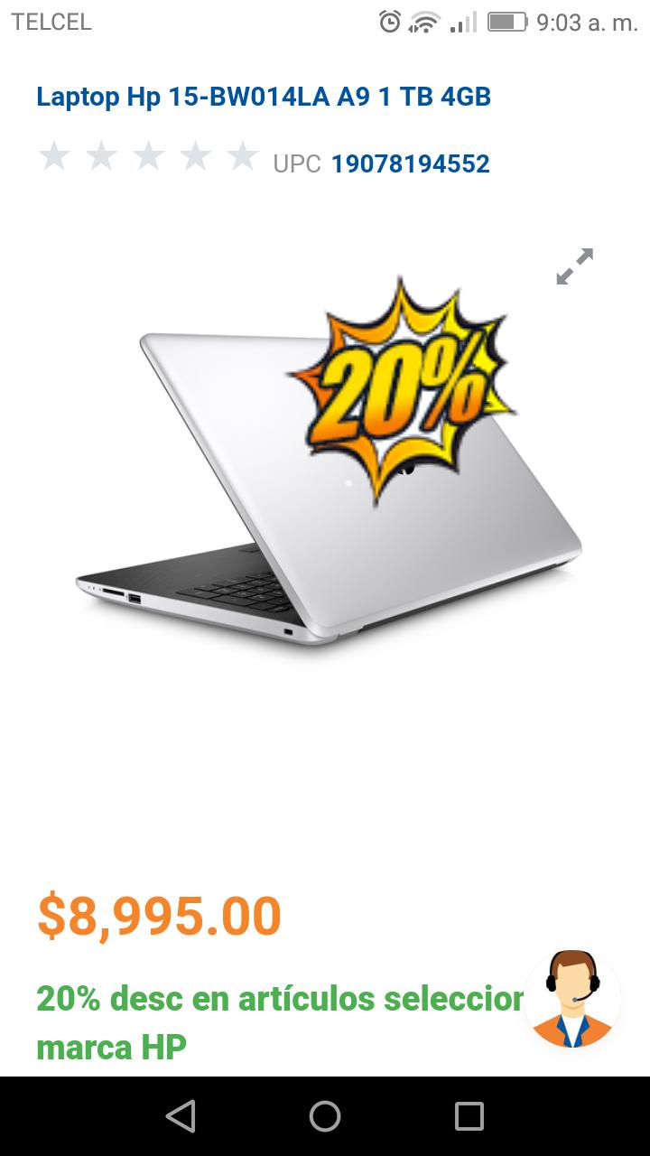 Chedraui: Laptop hp
