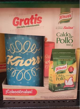 Walmart: Lata coleccionable grande gratis comprando Consomé de Pollo Knorr