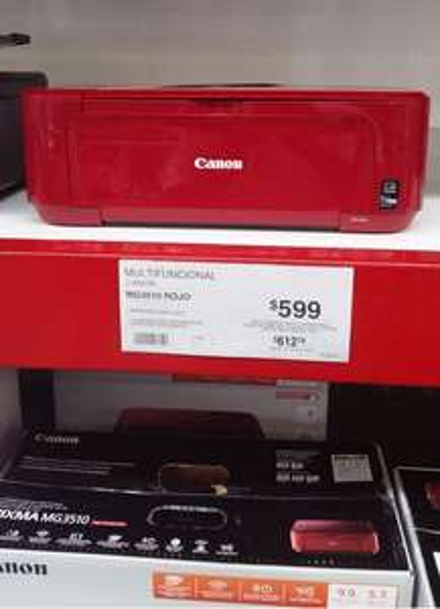 Sam's Club; Multifuncional Canon MG3510 Rojo $599