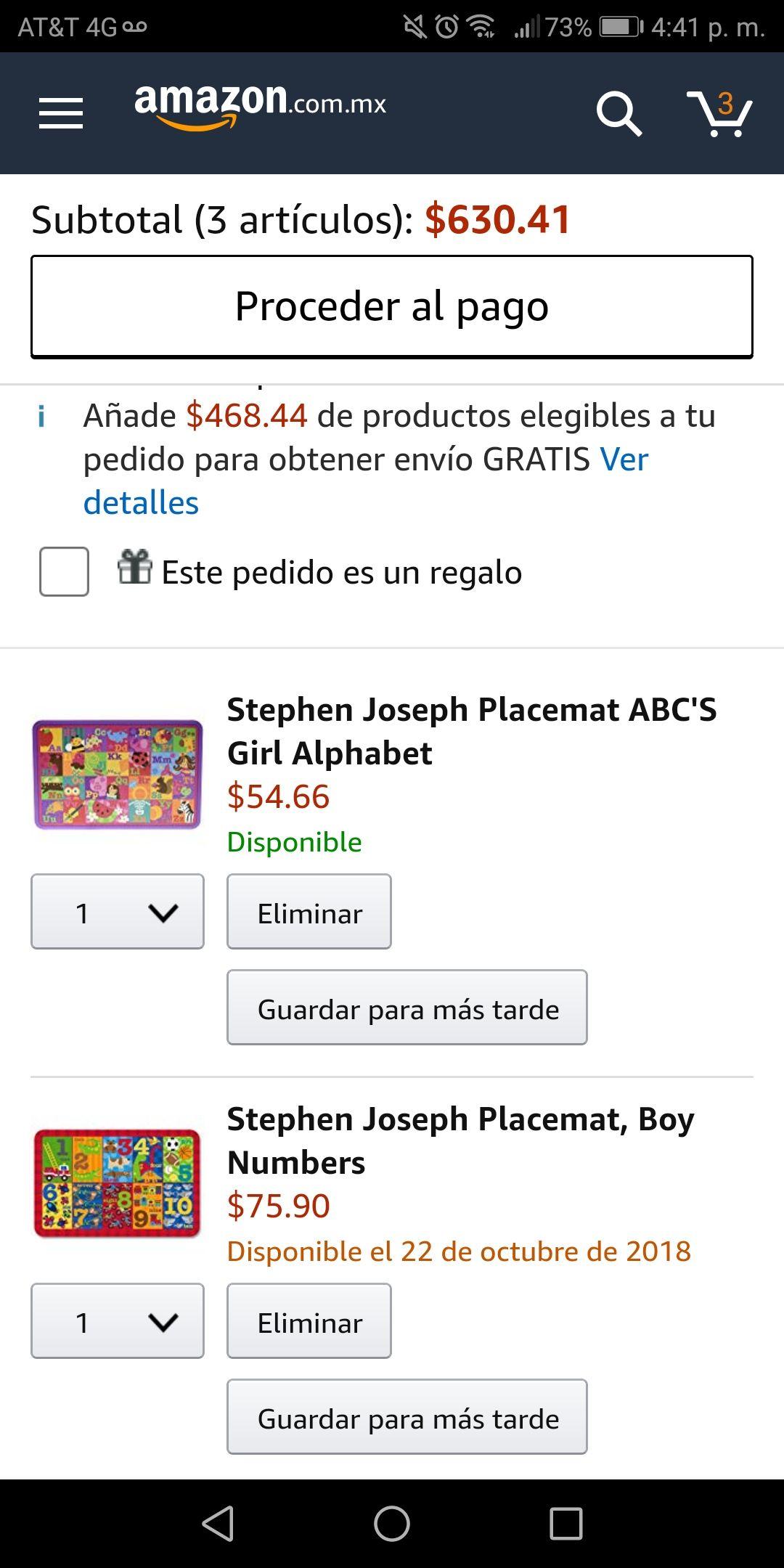 Amazon: Tapetes para niño y niña a buen precio