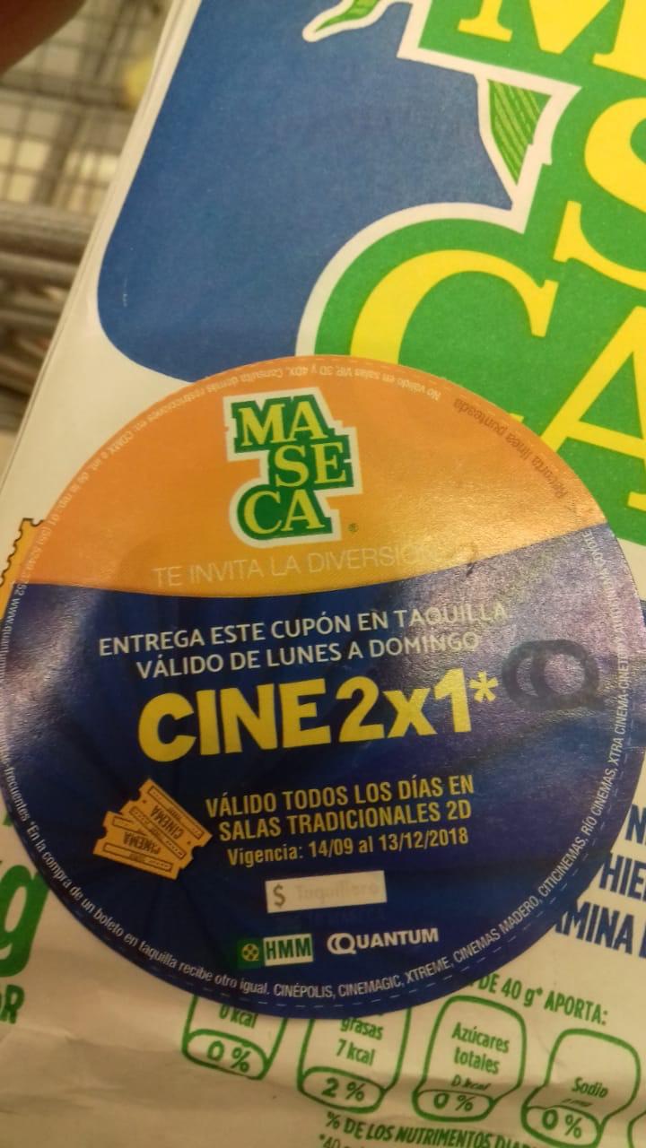 Cinépolis: 2x1 de lun-dom con Maseca