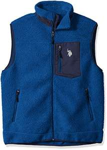 Amazon: U.S. Polo Assn.... - Sherpa - Chaleco con Cierre Completa para Hombre Talla G - Color: Azul (China Blue)
