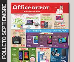 Office Depot: folleto de septiembre.