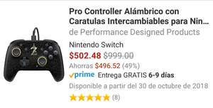 Amazon: Pro Controller Switch Alambrico marca Performance Designed Products