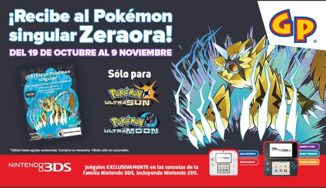 Gameplanet: Gratis código de Zeraora Pokemon Ultrasol y Ultraluna