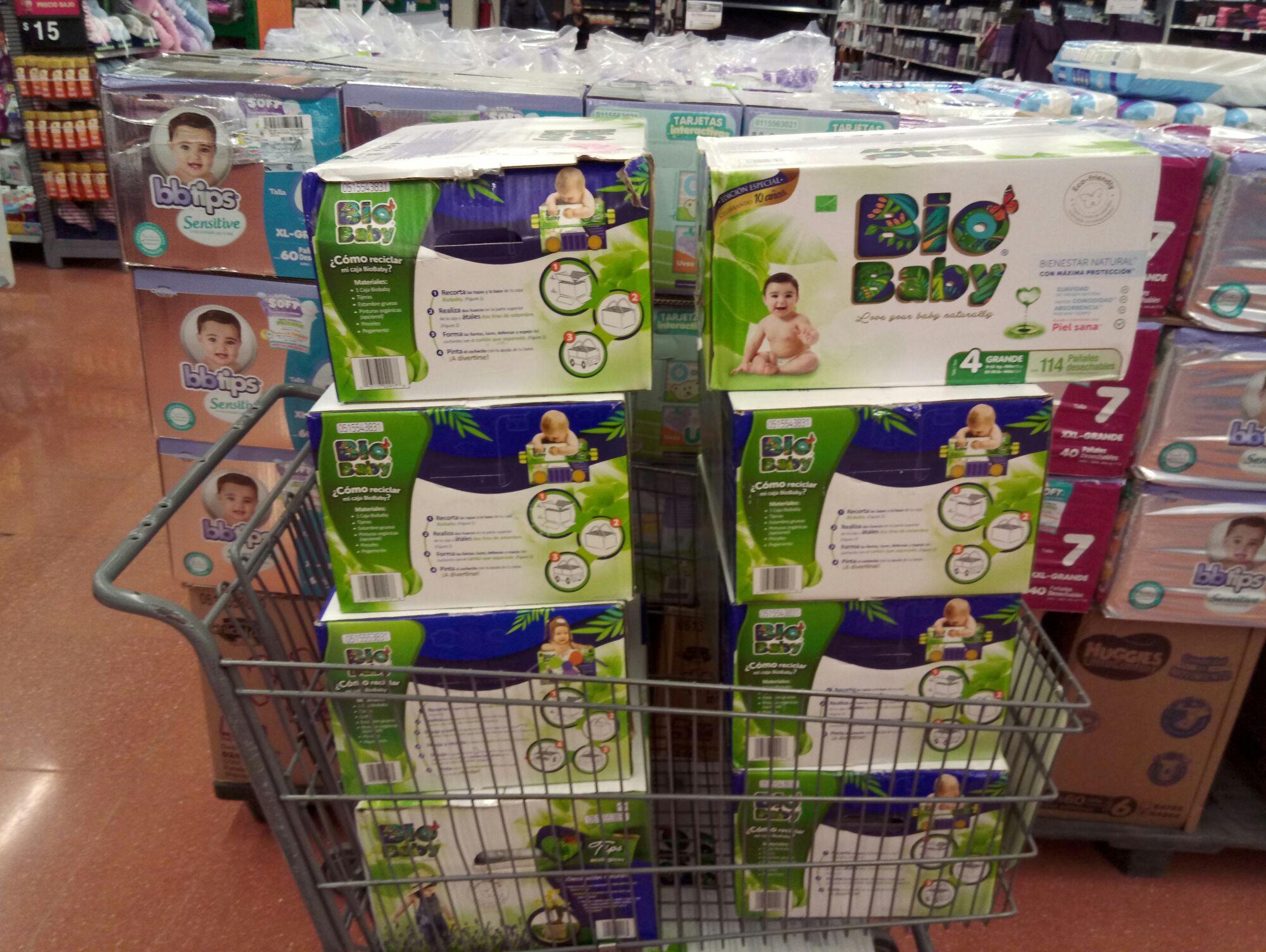 Walmart plateros cdmx pañales bio baby de 114 piezas a 200 pesotes.