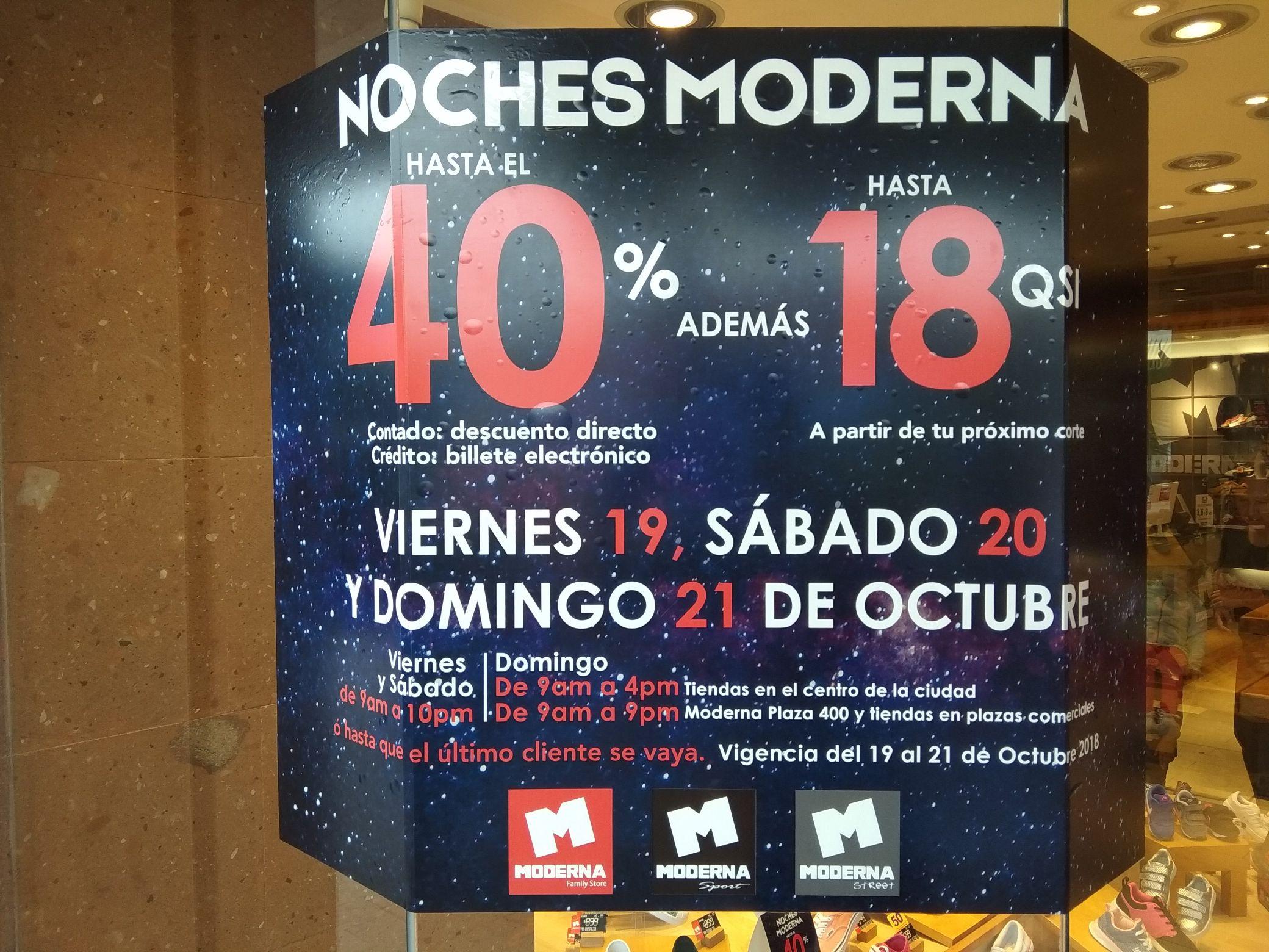 Moderna: Desde un 50% de descuento