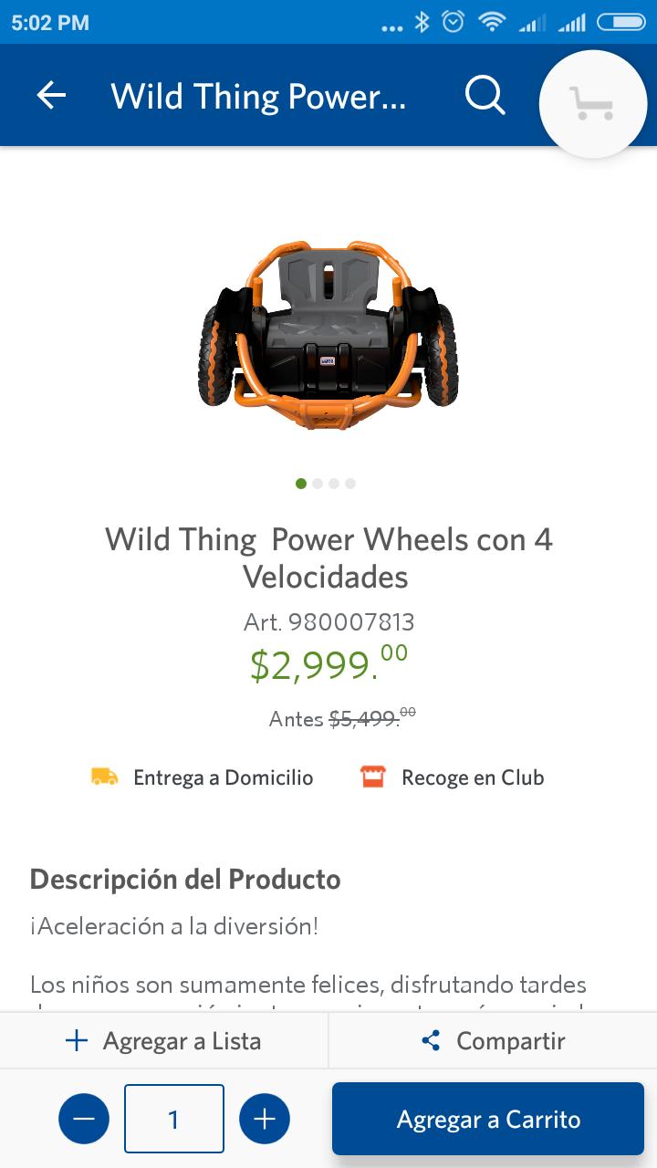 Sam's Power Wheels Wild Thing