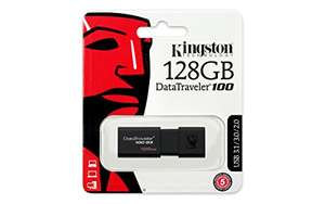 Amazon: Kingston DT100G3/128GB Unidad USB AMZ MX ( enviado por AMZ US)