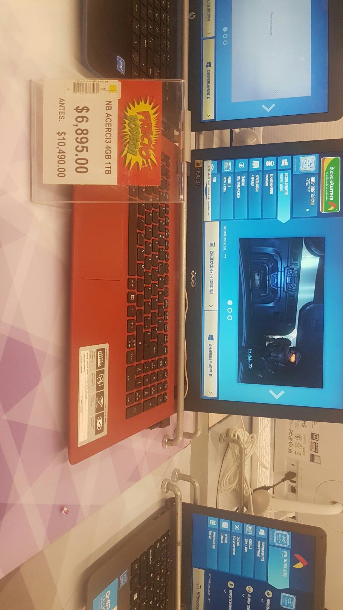Bodega Aurrerá: Laptop Nb Acer i3 7ma generacion