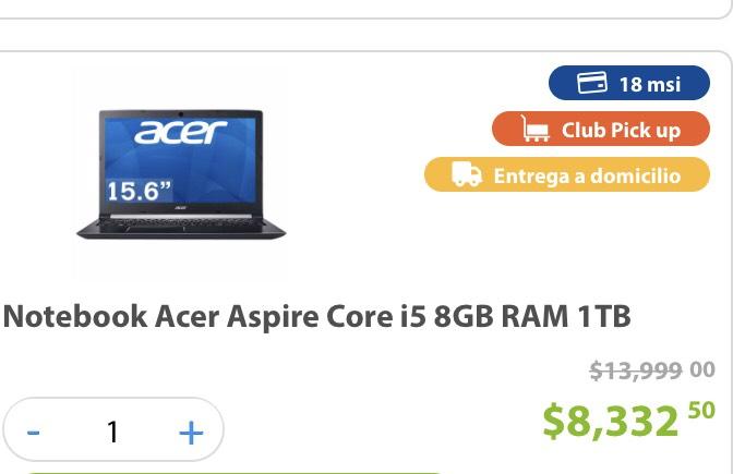 Sams Club: Recopilación de Laptops Core i5 Con Buenos Descuentos