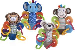 Amazon: Nuby Squeeze N' Squeak Plush Toy, Characters May Vary