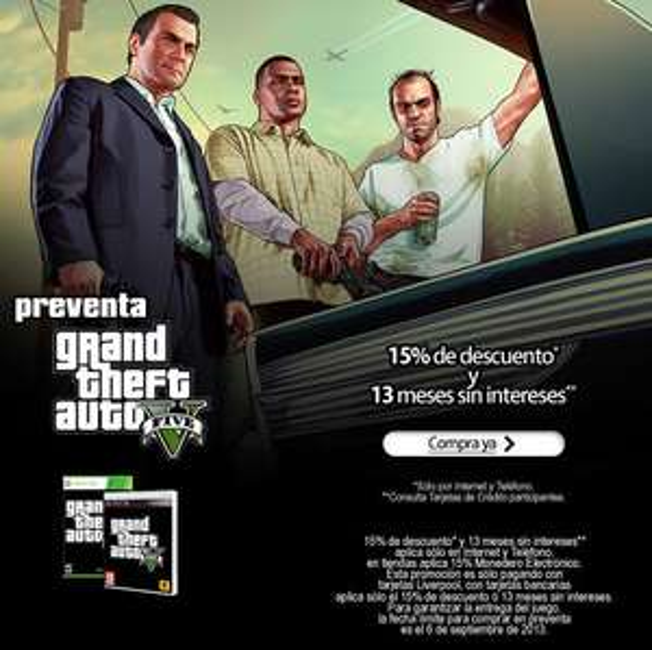 Xbox Live: hasta 75% de descuento en juegos de Rockstar (Grand Theft Auto V, LA Noire y más)