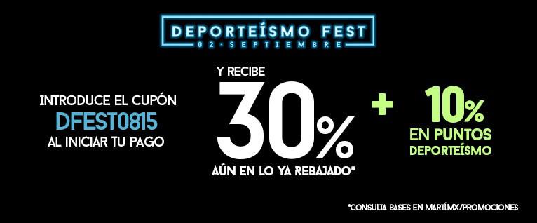 Martí: 30% Adicional a lo ya rebajado + 10% en puntos Deporteismo con TC Deporteismo