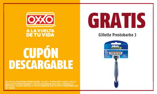 OXXO: Gillette Prestobarba 3 GRATIS