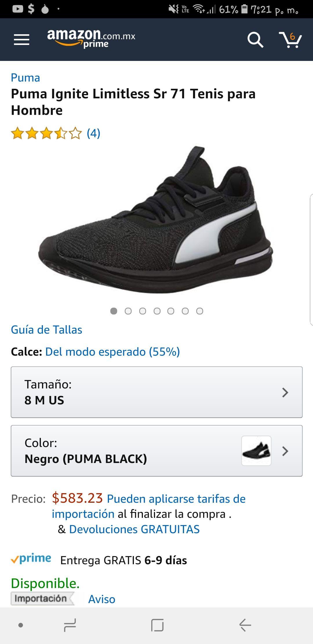 Amazon: Tenis Puma  Ignite Limitless Sr 71 Tenis para  Hombre # 6