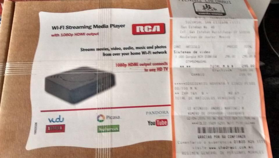 Chedraui: WiFi streaming media player refurbished RCA