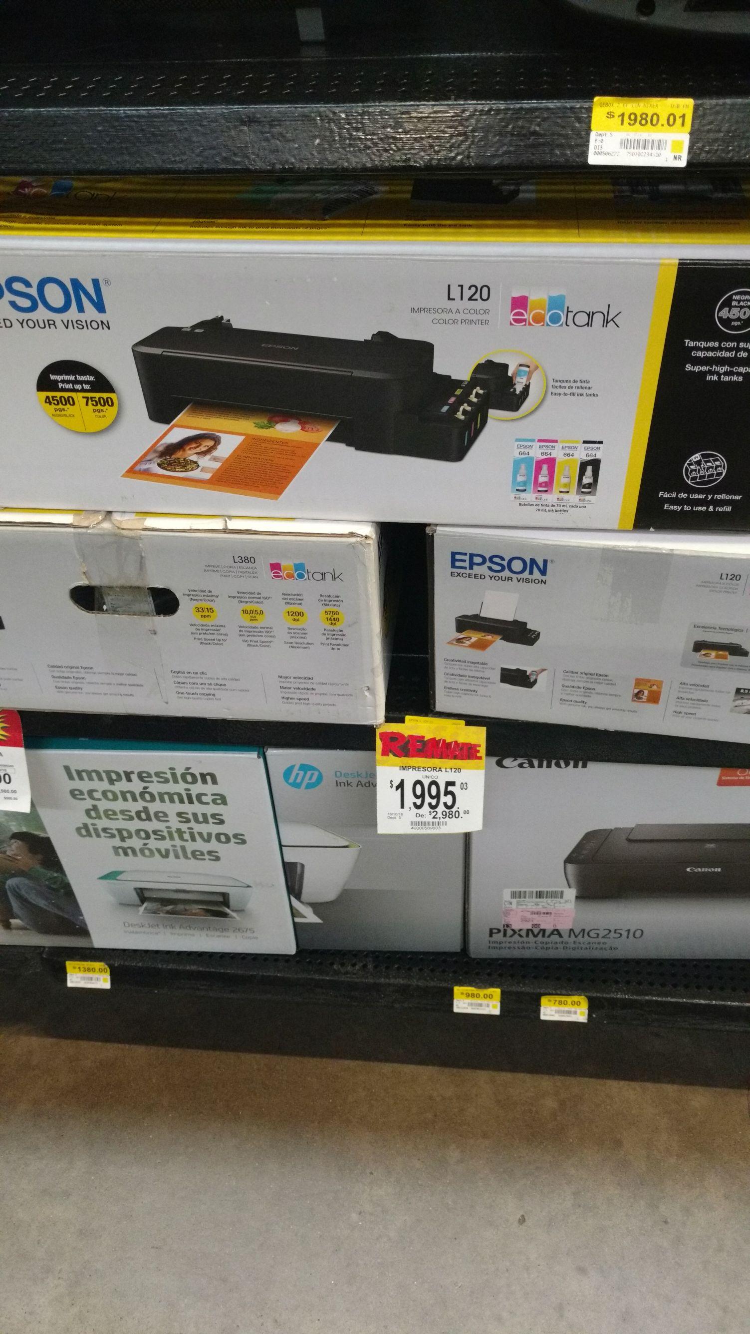 Bodega Aurrerá: Impresora Epson en liquidación