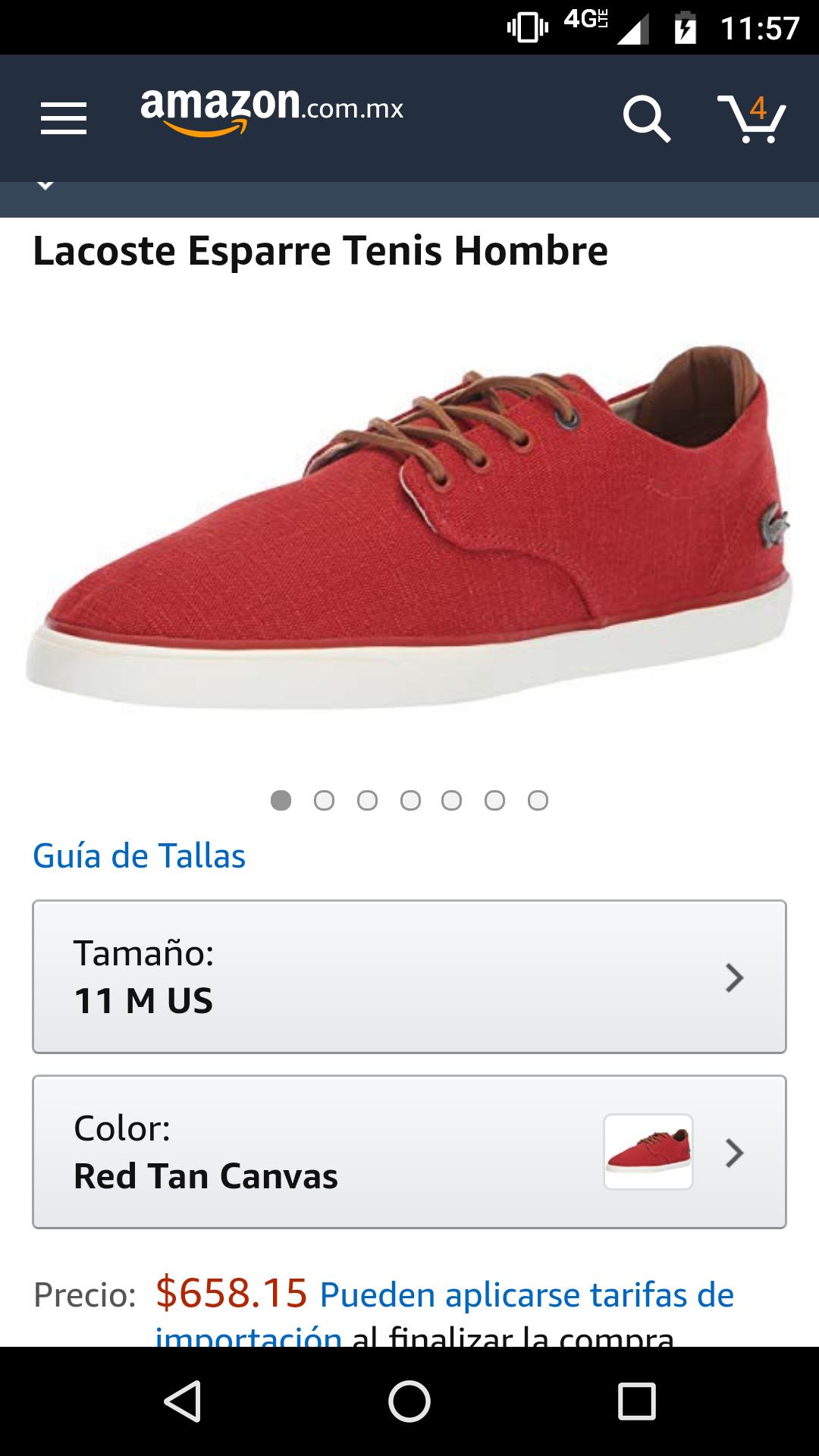 Amazon: tenis Lacoste a buen precio