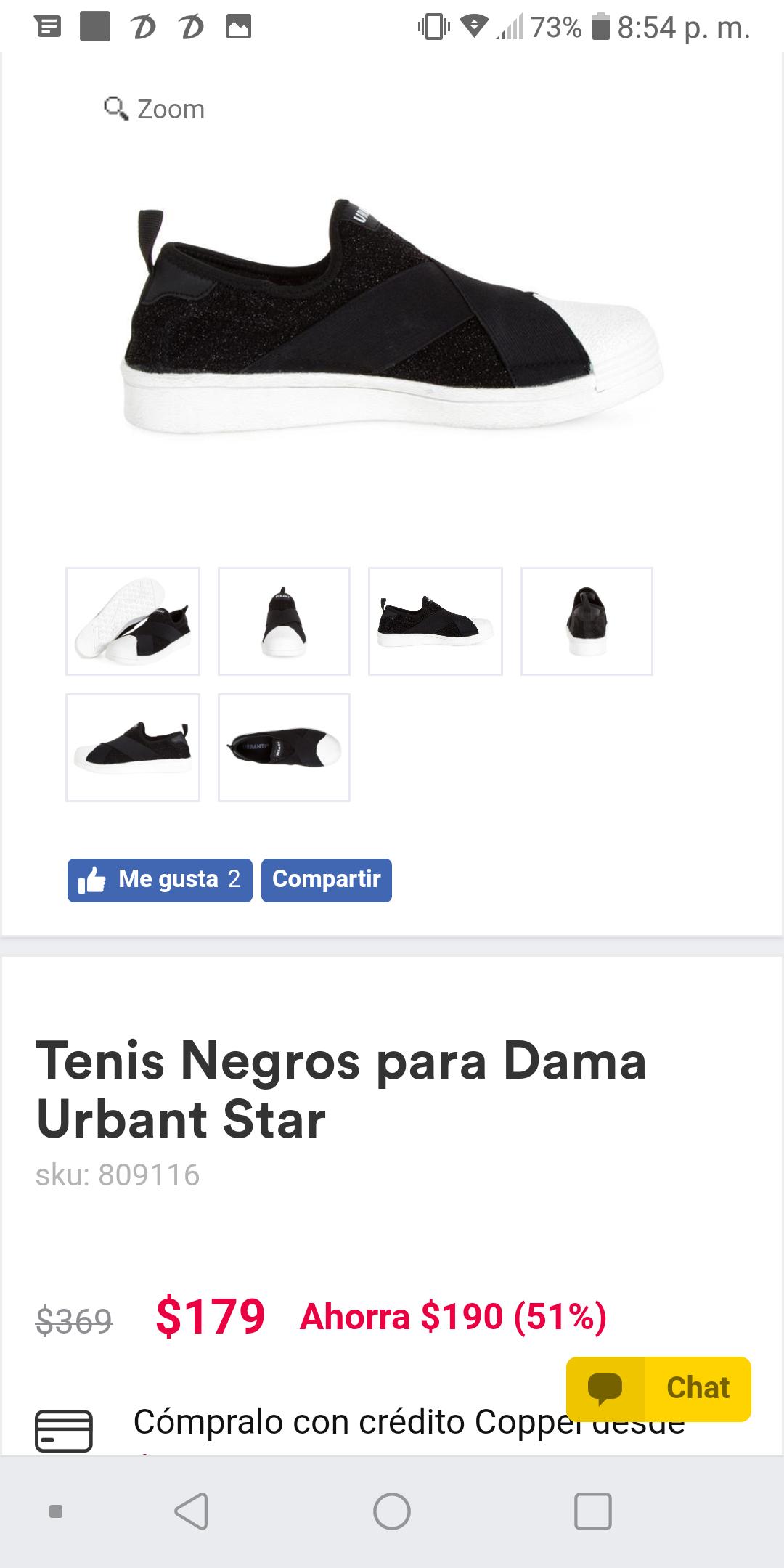 Coppel: Tenis Negros para Dama Urbant Star