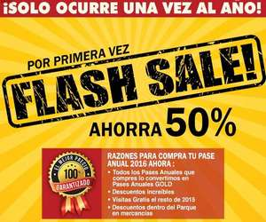 Six Flags Flash Sale 2016: pase anual 2016 + 2015 + beneficios gold desde $479